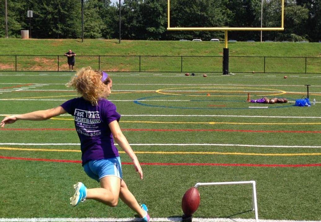 Taylor Kicking Practice