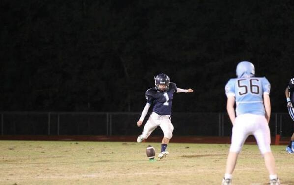 Field Goal Kicker Caleb Kuhne, Willmington NC