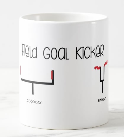 Field Goal Kicker coffee mug