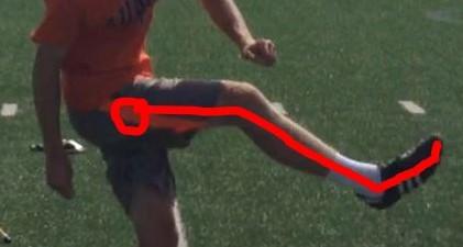 The bent leg follow through